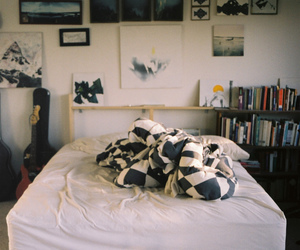 bed, home, and cute image