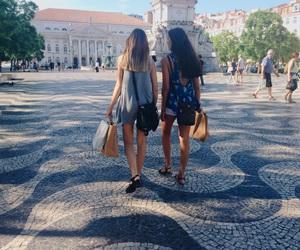 city, shopping, and walking image