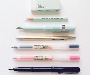 school, pen, and pencil image