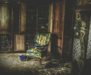 chair, dark, and dreamy image