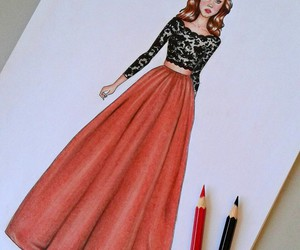 art, fashion, and pencil image