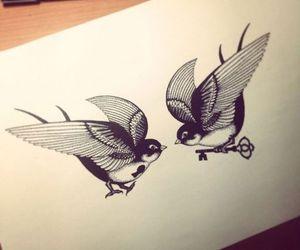 animals, art, and bird image