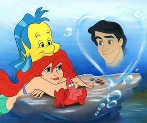 ariel, disney, and sebastian image