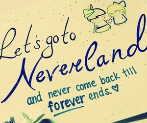 neverland, forever, and peter pan image