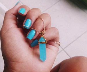 necklace, fashion, and nails image