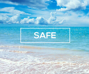 blue, safe, and sea image