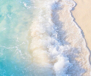 beach, summer, and sea image
