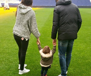 family, baby, and football image