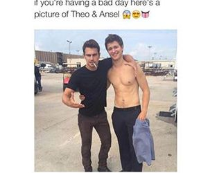 Hot, theo james, and ansel elgort image
