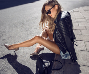 brunette, fashion, and high heels image
