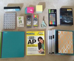 school supplies, study, and studying image