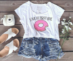 fashion, donut, and outfit image