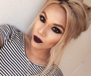 blonde, lips, and make up image