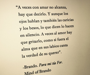 Besos, frases en español, and amor image