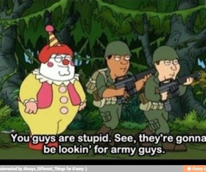family guy, funny, and clown image