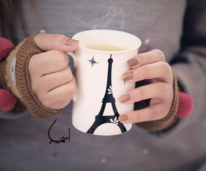 paris, cup, and coffee image