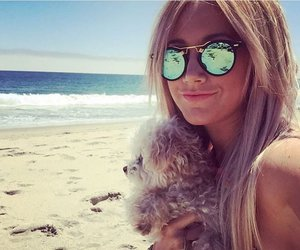 ashley tisdale, beach, and girl image