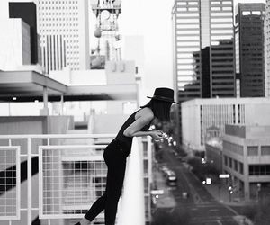 black and white, city, and fashion image