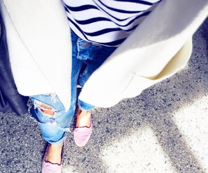 black, blue, and jeans image