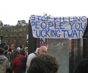 protest and people image