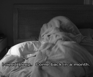 sleep, quotes, and bed image