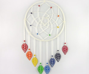 blue, colorful, and dreamcatcher image