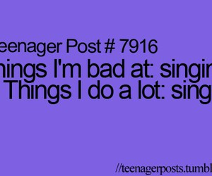 funny, sing, and quote image