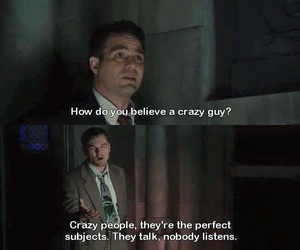 crazy, movie quotes, and shutter island image