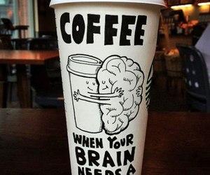 coffee, brain, and hug image
