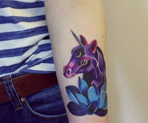 girl, violet, and pony image