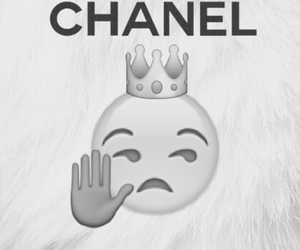 black and white, chanel, and Queen image