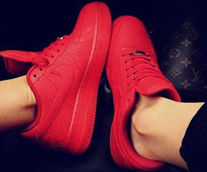 fashion, red, and nike image