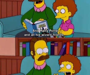 harry potter, funny, and simpsons image