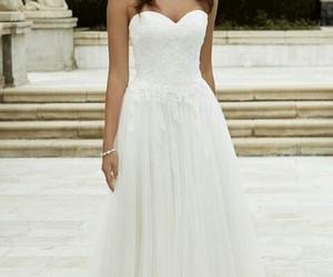 bridal, bride, and dress image