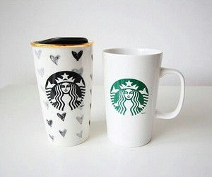 starbucks, coffee, and cup image
