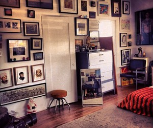 apartment, frames, and pictures image
