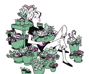 plants, boy, and cute image