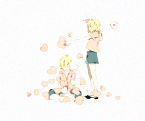 vocaloid, rin y len, and love image