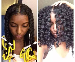 curlers, curly, and flexi image