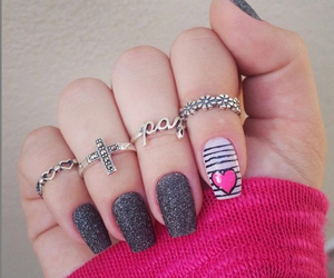 nails, rings, and heart image