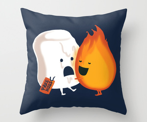 fire, pillow, and cute image