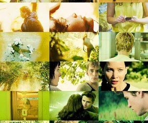 art, Collage, and green image