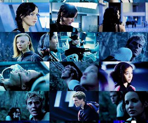 hunger games, blue, and book image