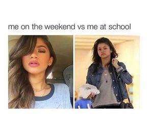 funny, school, and weekend image