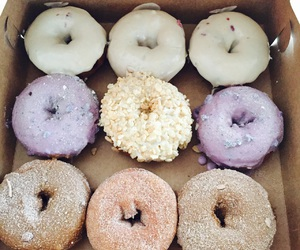 artsy, donuts, and food image