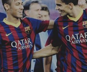 neymar jr and marc bartra image