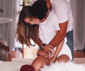 couple, happiness, and hug image