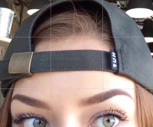eyes, girl, and eyebrows image