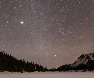 stars, snow, and sky image