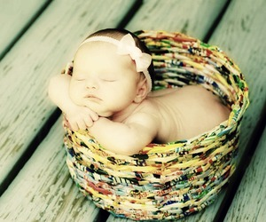 baby, basket, and awwww image
